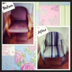 One time I did do a before and after 4 salon chairs for Sasha x