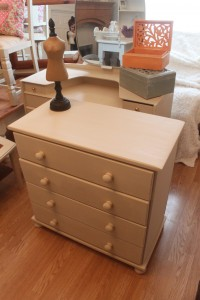 Solid Pine Drawers painted in Annie Sloan Old Ochre Waxed and lightly distressed