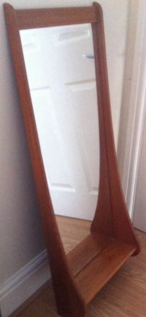 Vintage Danish 1950s Wall Mirror Perfectly Preloved